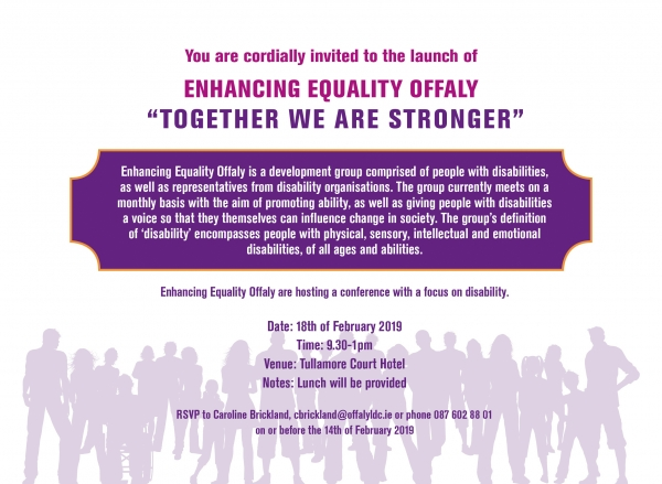 "Enhancing Equality Offaly ""Together We Are Stronger"""