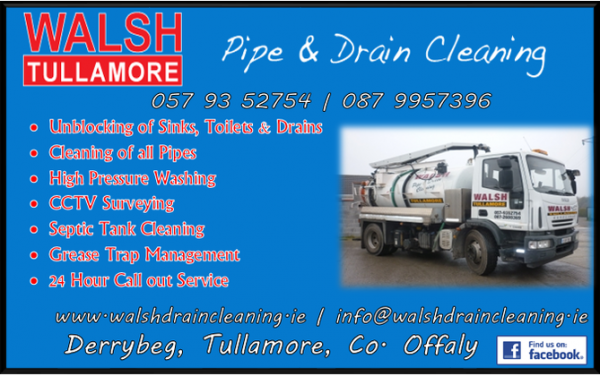Walsh Tullamore Drain & Pipe Cleaning